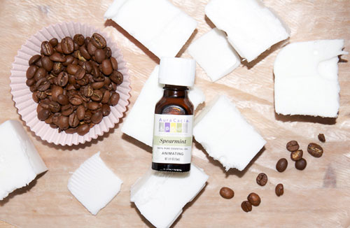 homemade soap with coffee