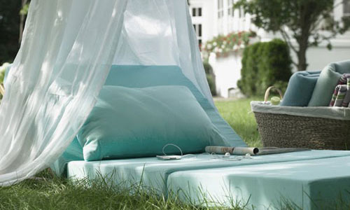 Ideas for tent in the garden