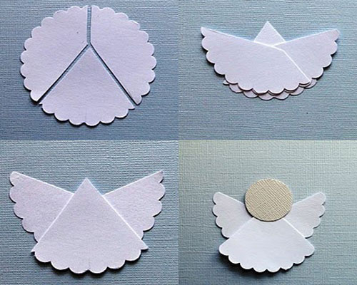 DIY angel from paper