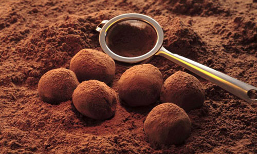 Idea for homemade chocolate truffles