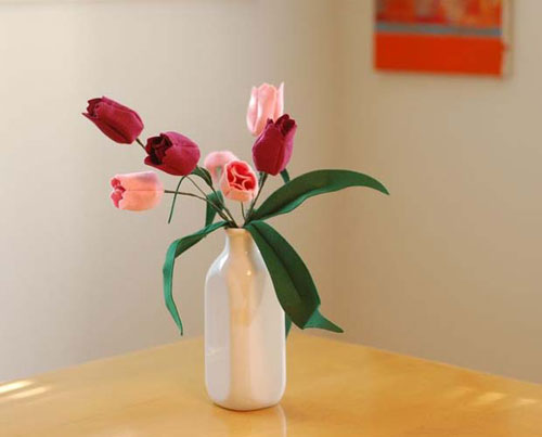 idea tulips from felt 10