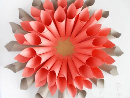 Цветной цветок из бумаги своими руками