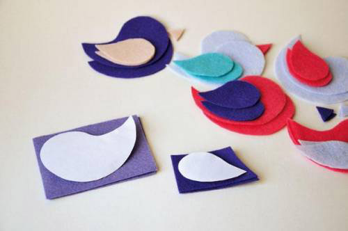 DIY birds from felt