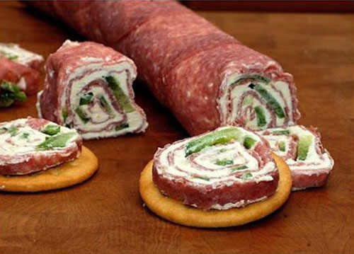 Idea - roll from salami cheese